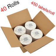 MFLABEL®  40 Rolls of 450 4x6 Direct Thermal Blank Shipping Labels for Zebra 2844 Zp-450 Zp-500 Zp-505
