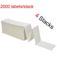 "MFLABEL® 4 Stacks Fanfold 4"" x 6"" Direct Thermal Labels White Perforated Zebra Shipping Labels (2,000 Labels per Stack)"