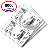 MFLABEL® 8000 Half Sheet Laser/Ink Jet USPS UPS Fedex Shipping Labels (Compare to 5126)