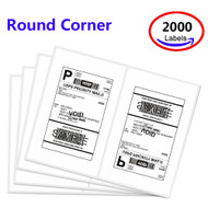 MFLABEL® 2000 Round Rorner Half Sheet Laser Shipping Labels (Compare to 5126)