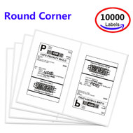 MFLABEL® 10000 Round Rorner Half Sheet Laser Shipping Labels (Compare to 5126)