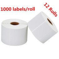 MFLABEL® 12 Rolls 2-1/4 x 1-1/4 Inch Direct Thermal Perforated Shipping Labels SKU Labels (1,000 Labels per Roll)