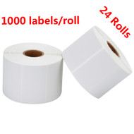 MFLABEL® 24 Rolls 2-1/4 x 1-1/4 Inch Direct Thermal Perforated Shipping Labels SKU Labels (1,000 Labels per Roll)