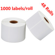MFLABEL® 48 Rolls 2-1/4 x 1-1/4 Inch Direct Thermal Perforated Shipping Labels SKU Labels (1,000 Labels per Rol