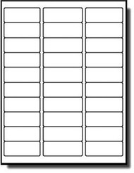"""MFLABEL Sheets 30-UP Easy to Peel Address Labels 1""""x2-5/8"""" White Shipping Labels  (3,000 Labels)"""