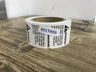 "BESTIKER Suffocation Warning,Keep Away from Small Children,2"" X 2"" Removable Label Stickers"