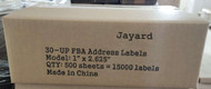 """Jayard 30-UP 1"""" X 2-5/8"""" Shipping Address FBA Labels for Inkjet Printers, 100 Sheets, Pack of 3000 Labels"""