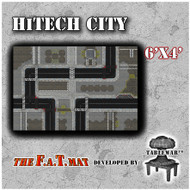 6x4 'HiTech City' F.A.T. Mat Gaming Mat