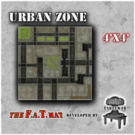 4x4 'Urban Zone (10mm)' F.A.T. Mat Gaming Mat