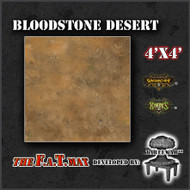 4x4 'Bloodstone Desert' Privateer Press branded F.A.T. Mat Gaming Mat
