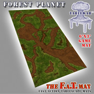 6x3 'Forrest Planet' F.A.T. Mat Gaming Mat