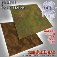 3x3' Dbl Sided 'Forrest + Cave Floor' F.A.T. Mat Gaming Mat