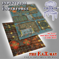 "30x22"" Dbl Sided 'Industrial' + 'Underforge' F.A.T. Mat Gaming Mat"