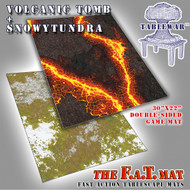 "30x22"" Dbl Sided 'Snowy Tundra' + 'Volcanic Tomb' F.A.T. Mat Gaming Mat"