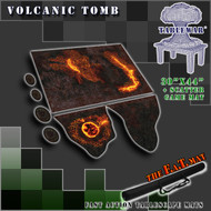 "30x44"" 'Volcanic Tomb' + Scatter Terran F.A.T. Mat Gaming Mat"