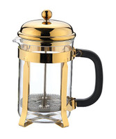 Cafe Ole 3 Cup Plunger in Gold