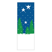 Winter Trees & Stars Banner