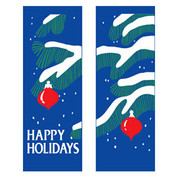 Tree Branches & Ornaments Banner