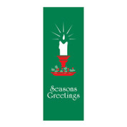 Seasons Greetings Candle Banner