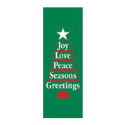 Joy Love Peace Tree Banner