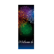 Bursting Fireworks Banner