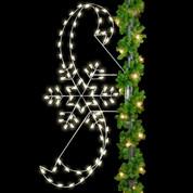 8' Snowflake & Ribbons