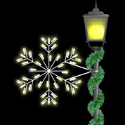 2' Deluxe Forked Snowflake