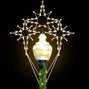 8' Triple Bethlehem Star - Post Over