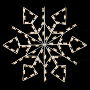 5' Winterfest Diamond Snowflake - Post Over