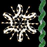 4.5' Sparkling Spiral Snowflake