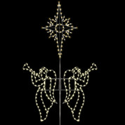 20' Angels with Bethlehem Star - Self Standing