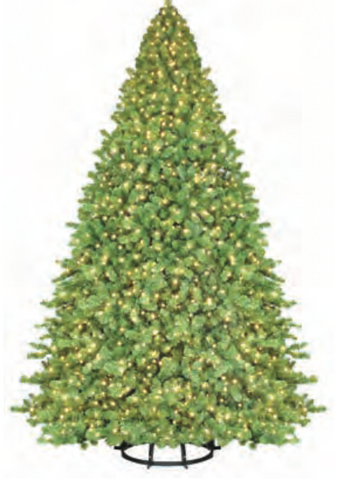 "Prepare to create an unforgettable holiday display. Use the 4' Sequoia conversion kit plus a 7' 6"" tree (sold separately) to create a towering 11' 6"" tree, perfect for high-ceilinged lobbies and shopping mall plazas. Easy to install, both models of this conversion kit feature a sturdy, metal frame construction with a round base for added stability. The exclusive instant shape model is a marvel of function and design. The branches come out of the box and instantly take their shape, limiting time and effort of setup. The pre-wired light system automatically connects each tree section so there is only one plug that connects directly into the wall socket."