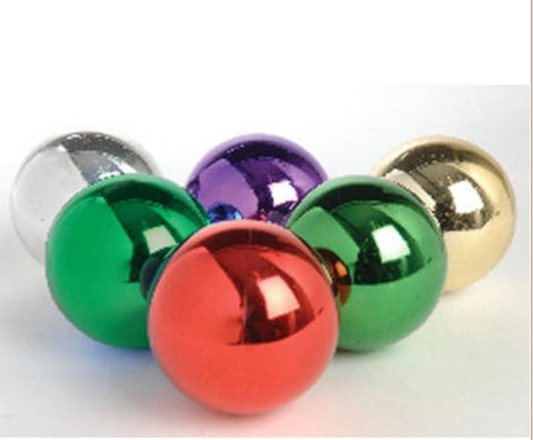 "These Superior Studio UV Ornaments have a shiny finsih on them that makes them durable and scratch resistant.   The ornaments come in purple, green, red, cherry, gold, and silver.   The ornaments come in 4"", 5 1/2"", and 8"" sizes.   Bulbs that are 4"" must be ordered by the dozen. 5 1/2"" and 8"" ornaments must be ordered in per ornament quantities.    Customers ordering 30 or more bulbs must call for discounted price."