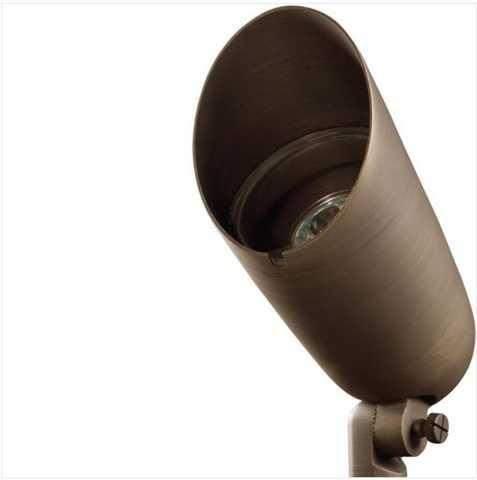 """Advantage Lightsource Luna Grande Flood Light ADV-FL-175B-MR16, these lights are used to highlight large trees, homes, walls, and hedge lines. They come with a stake mount but the base can be mounted on walls or other flat surfaces and adjusted appropriately. The bases can even be mounted on large trees to deliver the """"moon light"""" effect."""