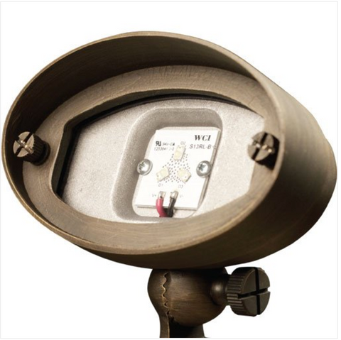 """Advantage Lightsource LED 6W E.T. Wall Wash/Flood Light(Integrated) ADV-LED-FL-113B-6W, these lights are used to highlight large trees, homes, walls, and hedge lines. They come with a stake mount but the base can be mounted on walls or other flat surfaces and adjusted appropriately. The bases can even be mounted on large trees to deliver the """"moon light"""" effect."""