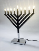 24 inch LED Chrome Display Menorah