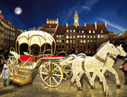 Step up Carriage with two Horses