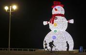 Giant 3 Tier Snowman