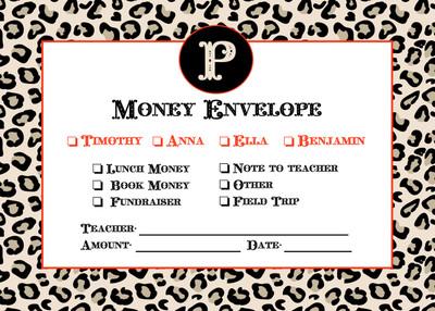 Money Envelopes - Leopard
