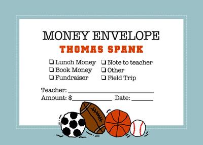 Money Envelopes - Sports