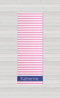 Yoga Mats - Pink Stripes