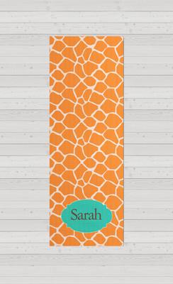 Yoga Mats - Orange Giraffe