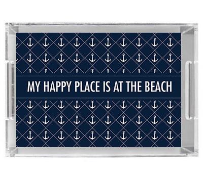 Acrylic Tray- Happy Place Navy
