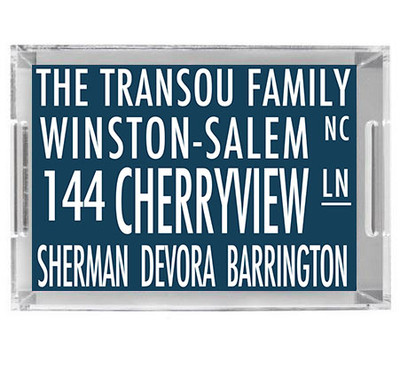 Acrylic Tray- Address