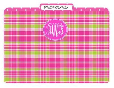 File Folders-Hot Pink Plaid