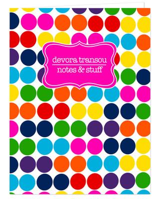 Pocket Folder - Crazy Dots