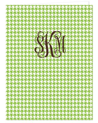 Pocket Folder - Houndstooth Green