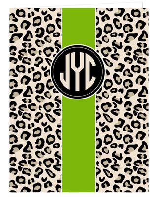 Pocket Folder - Leopard Stripe Pea