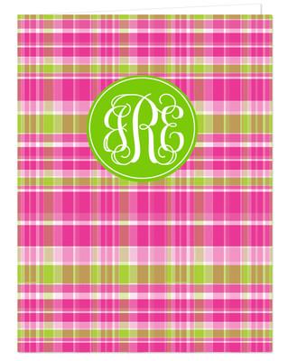 Pocket Folder - Pink Plaid