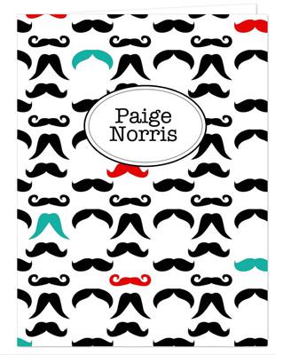 Pocket Folder - Mustache